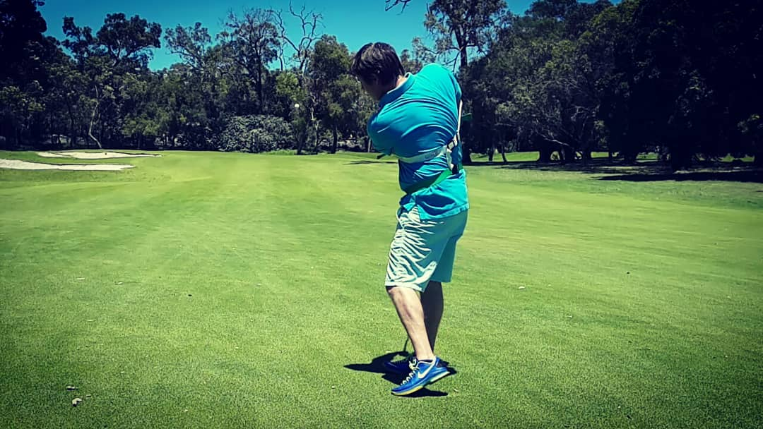 Our golf power swing trainer strengthens muscles on your follow through, helping to stay down and through your fairway approach shots.