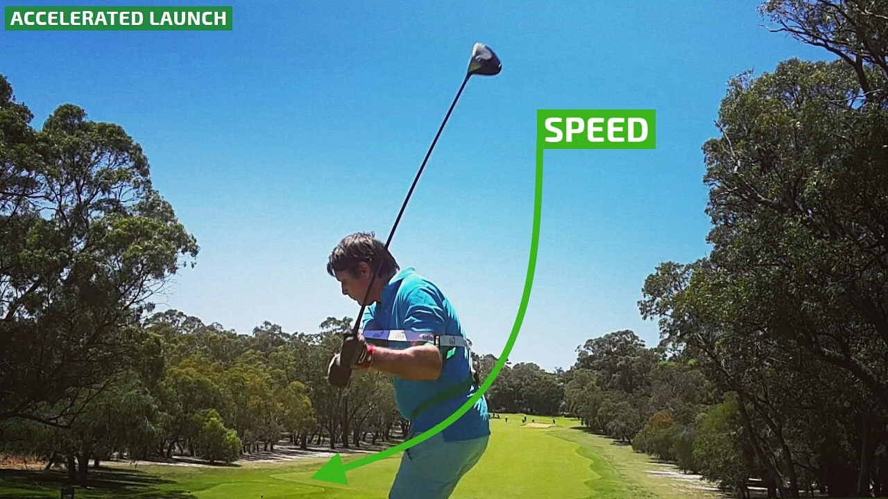 """Starting your downswing resistance triggers acceleration, improving club head speed, contact accuracy, developing fast twitch muscle fibers, and relieving pressure on joints. Power, speed, and accuracy carry over to tournament play, via """"brain and muscle communication systems,"""" AKA """"muscle memory."""""""