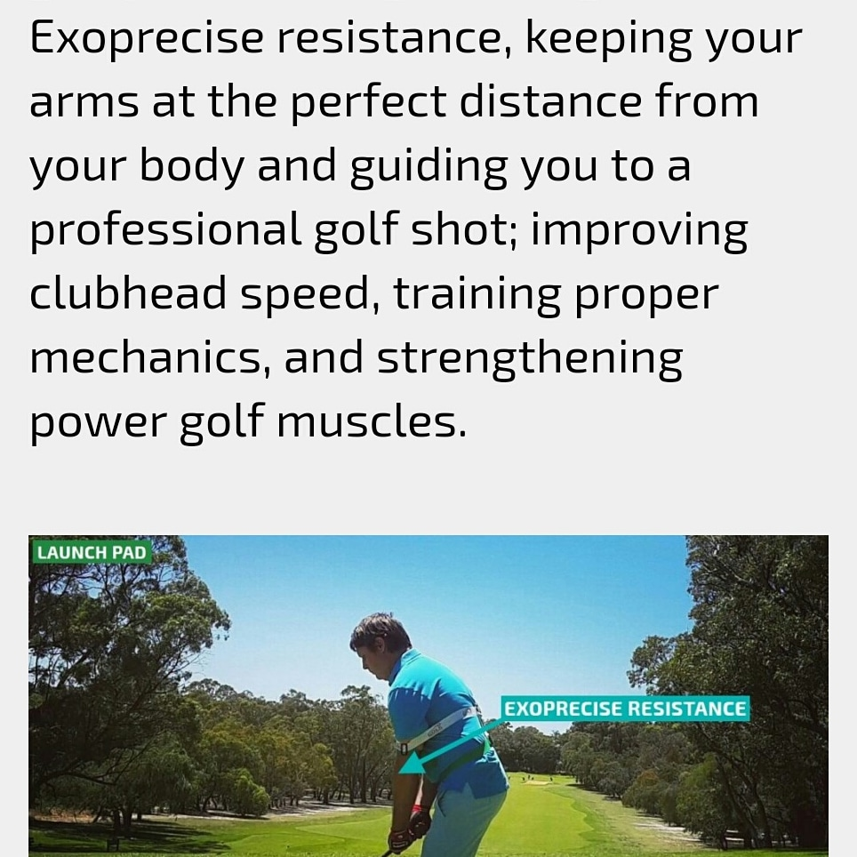 Setting Up In Your Golf Stance For Power Driving, Fairway Irons, And Accurate Putting On The Green, Our Golf Power Swing Trainer Gives Exoprecise Resistance, Keeping Your Arms At The Perfect Distance From Your Body
